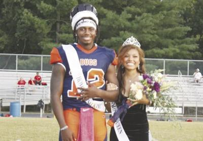 Homecoming King and Queen Brendan Nunnally and Celina Henderson