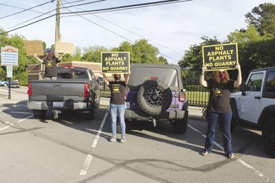 """Protesters say """"no quarry"""""""