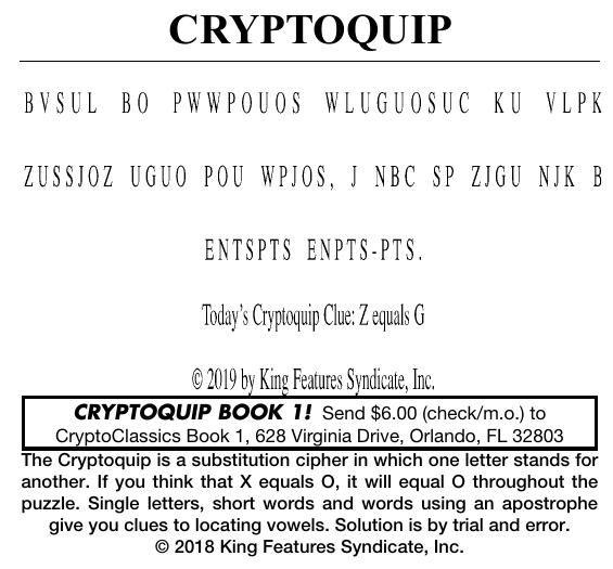 062319 crypto | Cryptoquip | cecildaily com