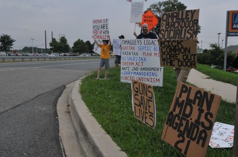 Protesting O'Malley