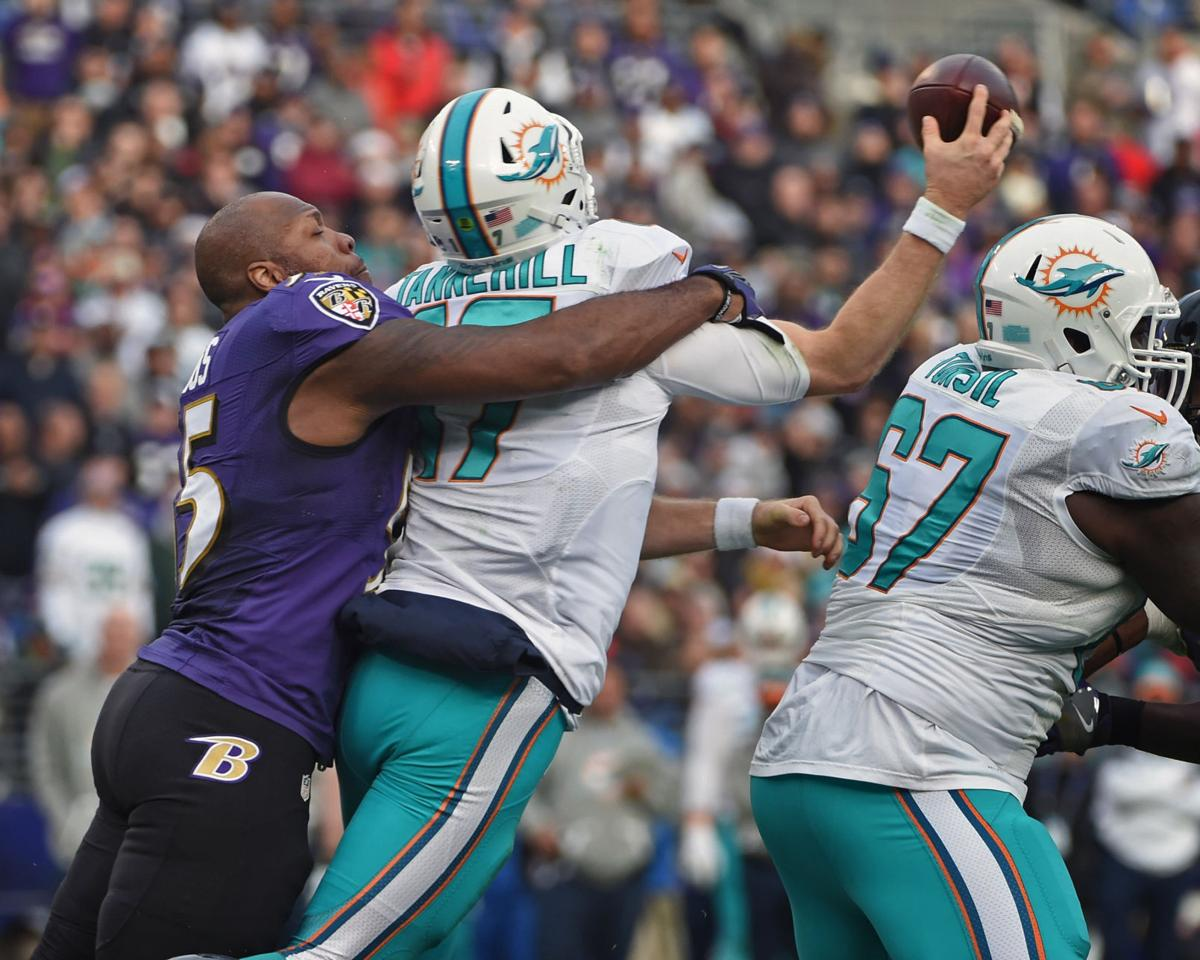 In Year 15 Ravens LB Terrell Suggs takes part in first offseason