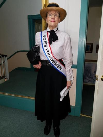 Chan Cosans will portray Cecil County Suffragette Mary Jamar Sunday in Rising Sun
