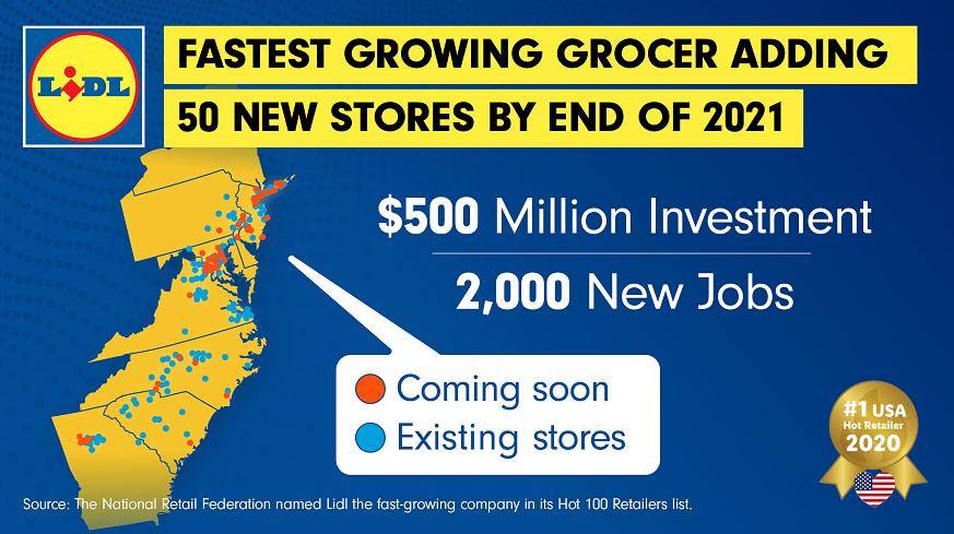 Lidl US announces $500 million expansion