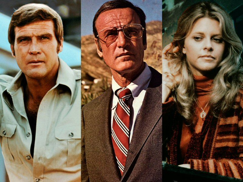Lee Majors Richard Anderson And Lindsay Wagner Of Six Million Dollar Man And The Bionic Woman Extremely Popular Tv Shows Of The 1970s