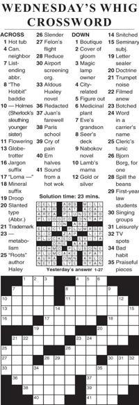 Crosswords Cecildaily Com