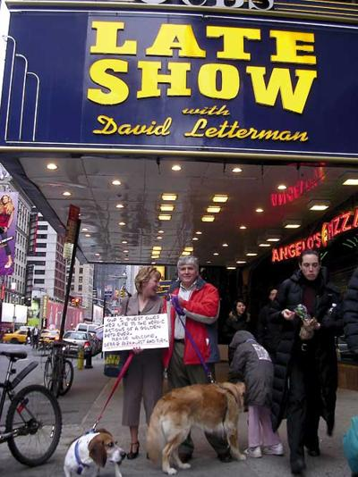 Toby takes Manhattan*Pooch who saved life of apple-choking owner tackles the Big Apple, Letterman