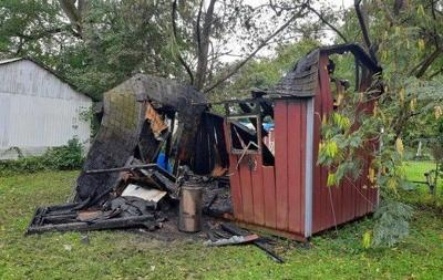 Elkton shed fire
