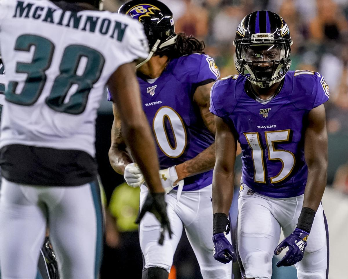 Ravens' 1st-round pick Marquise Brown sees first preseason action in win over Eagles