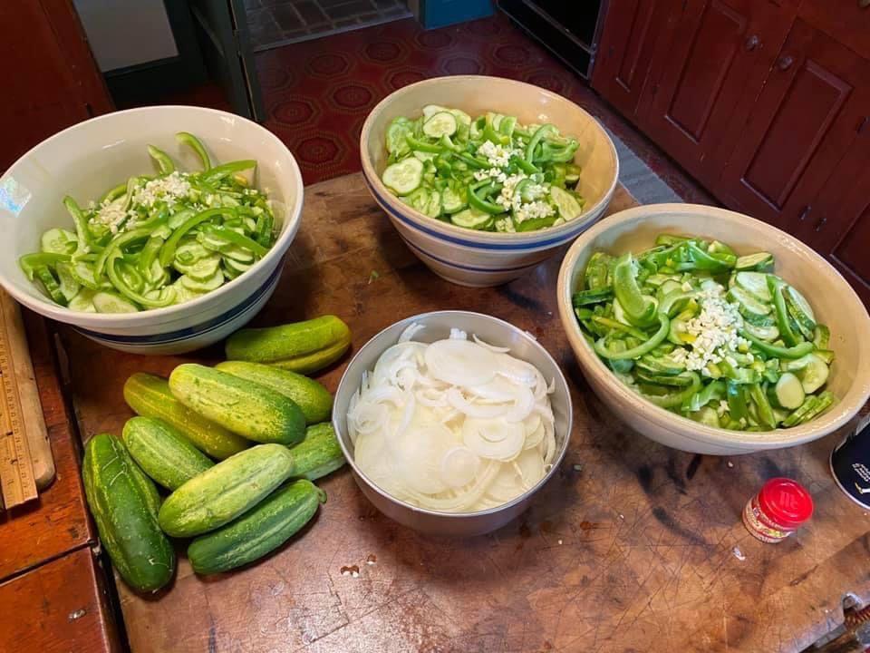 Bowls of Pickling Ingredients