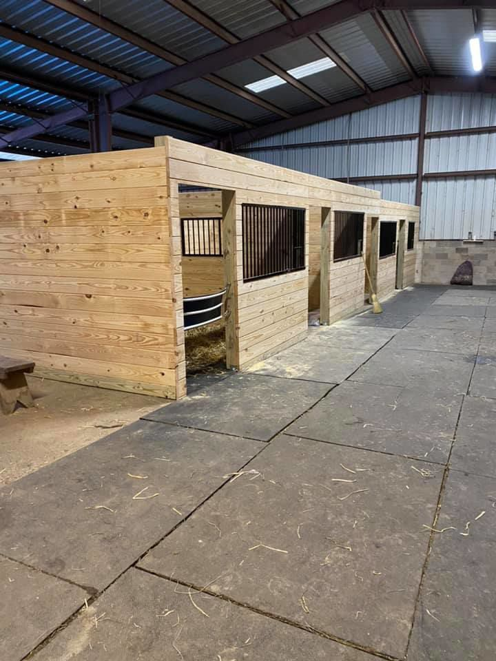 New stable are finished at On The Bit Equestrian Center