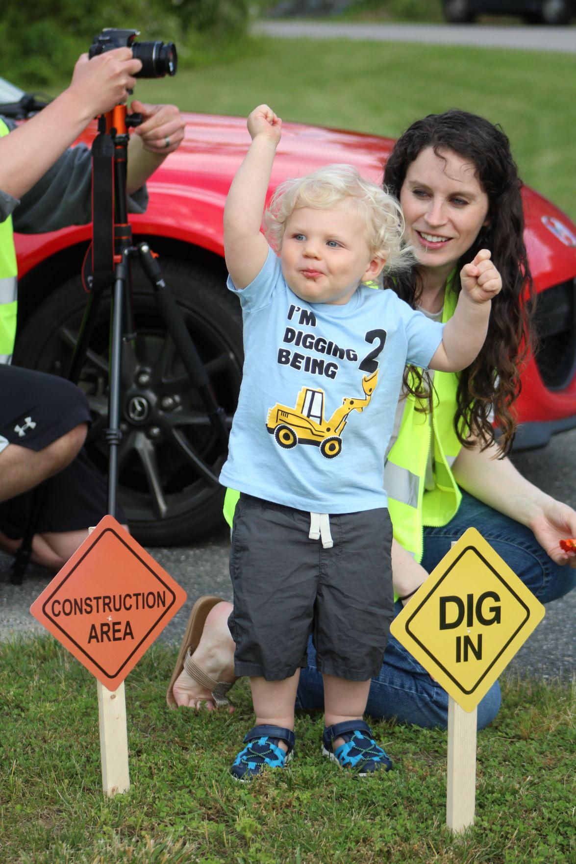 Port Deposit toddler gets birthday truck parade