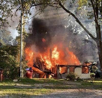 Fire destroys vacant Rising Sun house
