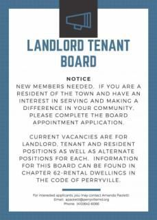 Openings on Perryville's Landlord/Tenant board