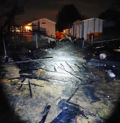 North East shed fire