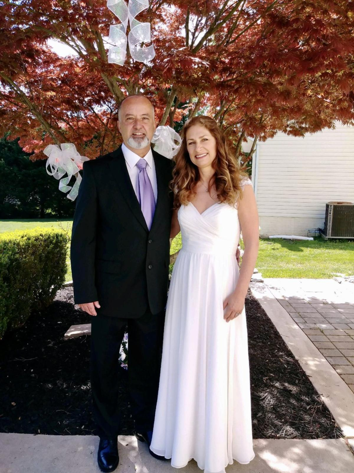 """Kirk Derrick Simmons and Marian """"Mimi"""" Sharkey Eastman were wed in Perryville on May 2."""