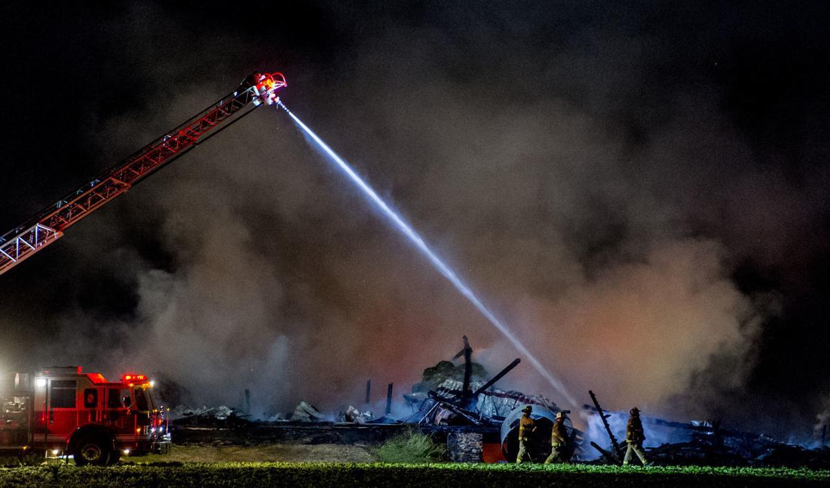 Calvert barn fire