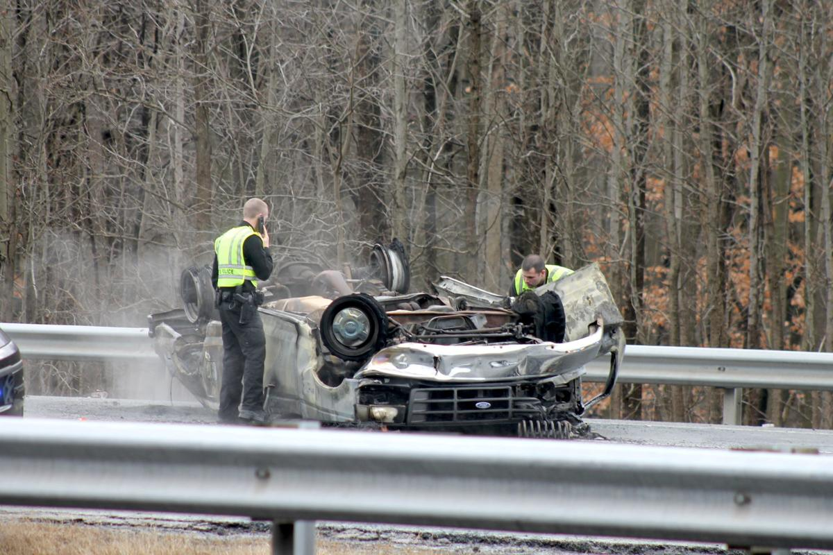Man suffers minor injuries in fiery North East-area crash | Police