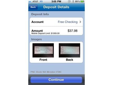 Depositing checks via iPhone or iPad? PNC has an app for that