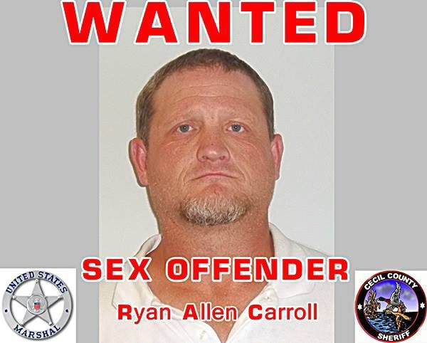 Ryan Allen Carroll was wanted for violation of probation after assault  charges, as well as by the U.S. Marshals for failing to register as a sex  offender in ...