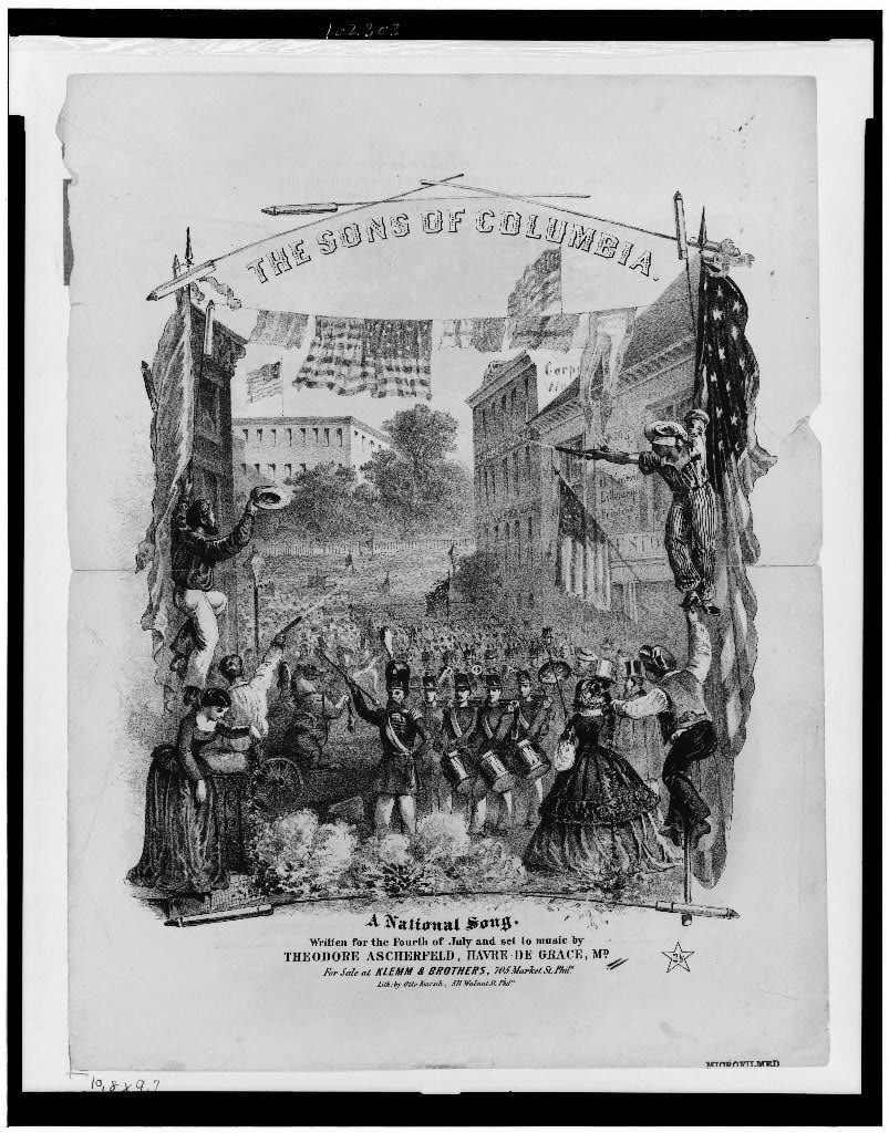 Cover to the Sons Of Columbia Sheet Music, Library of Congress.jpg