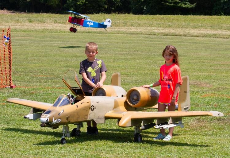 Giant scale A-10 jet with helpers