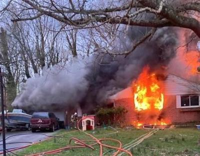 House fire displaces four