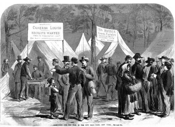Recruiting scene: Civil War