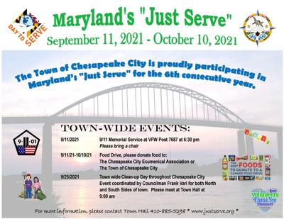 """Chesapeake City asking people to """"Just Serve"""""""