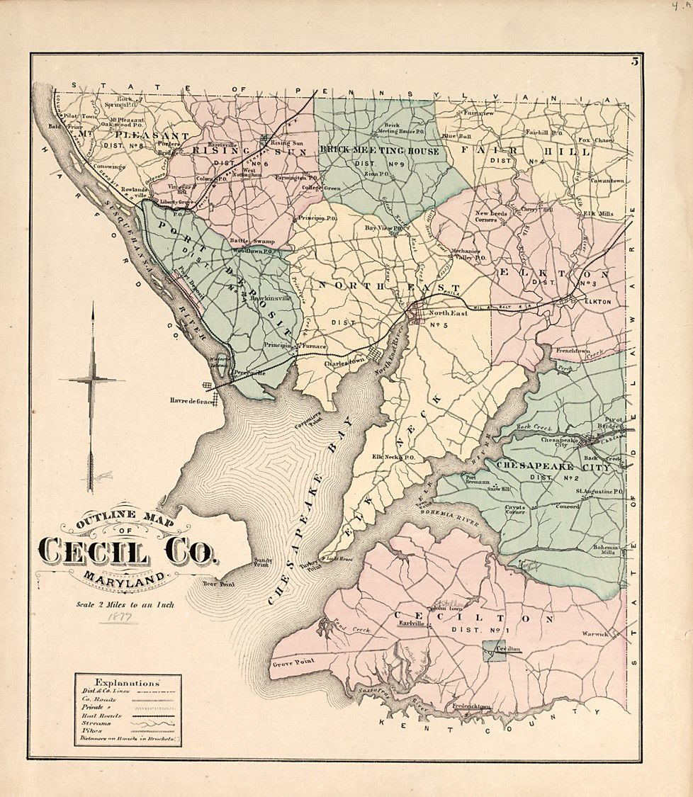 Map of Cecil County Roads c. 1877. Courtesy-Library of Congress.jpg