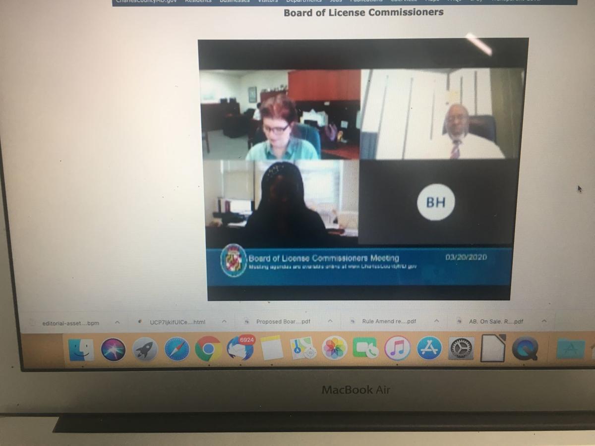 Virtual liquor board meeting