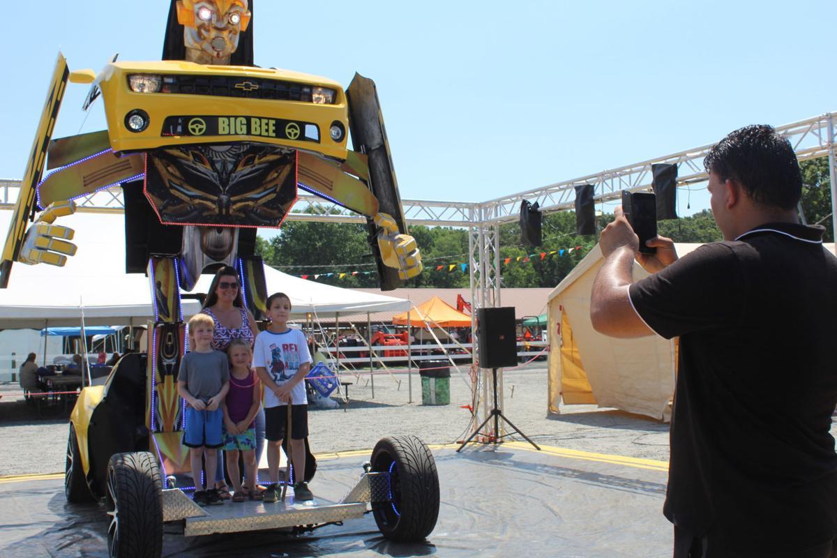 Big Bee transforms the fair crowd
