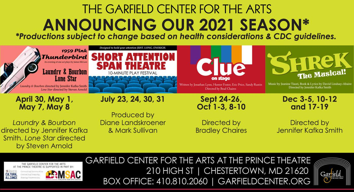 Garfield Center announces a season of live theatrical productions for 2021