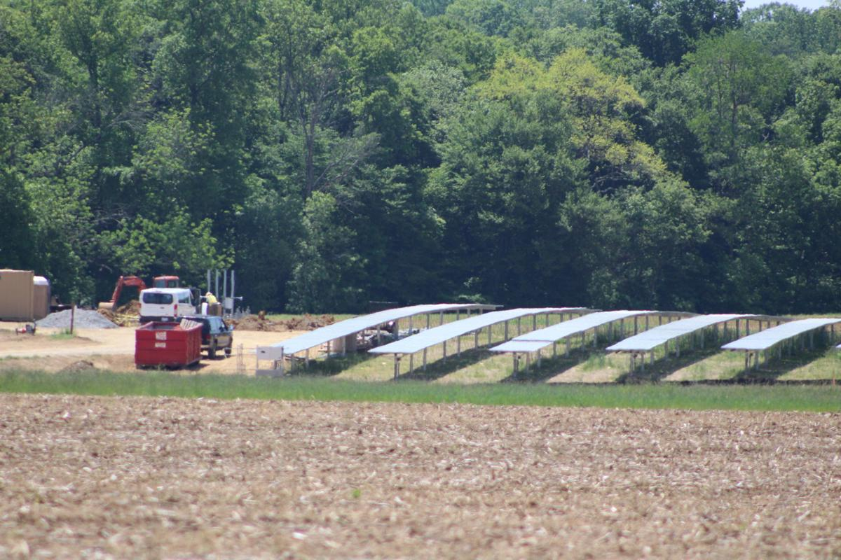 Snyder Electric buildings solar arrays on farmland