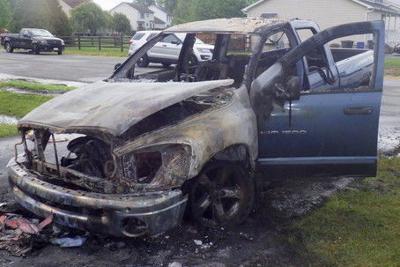 Elkton-area truck fire