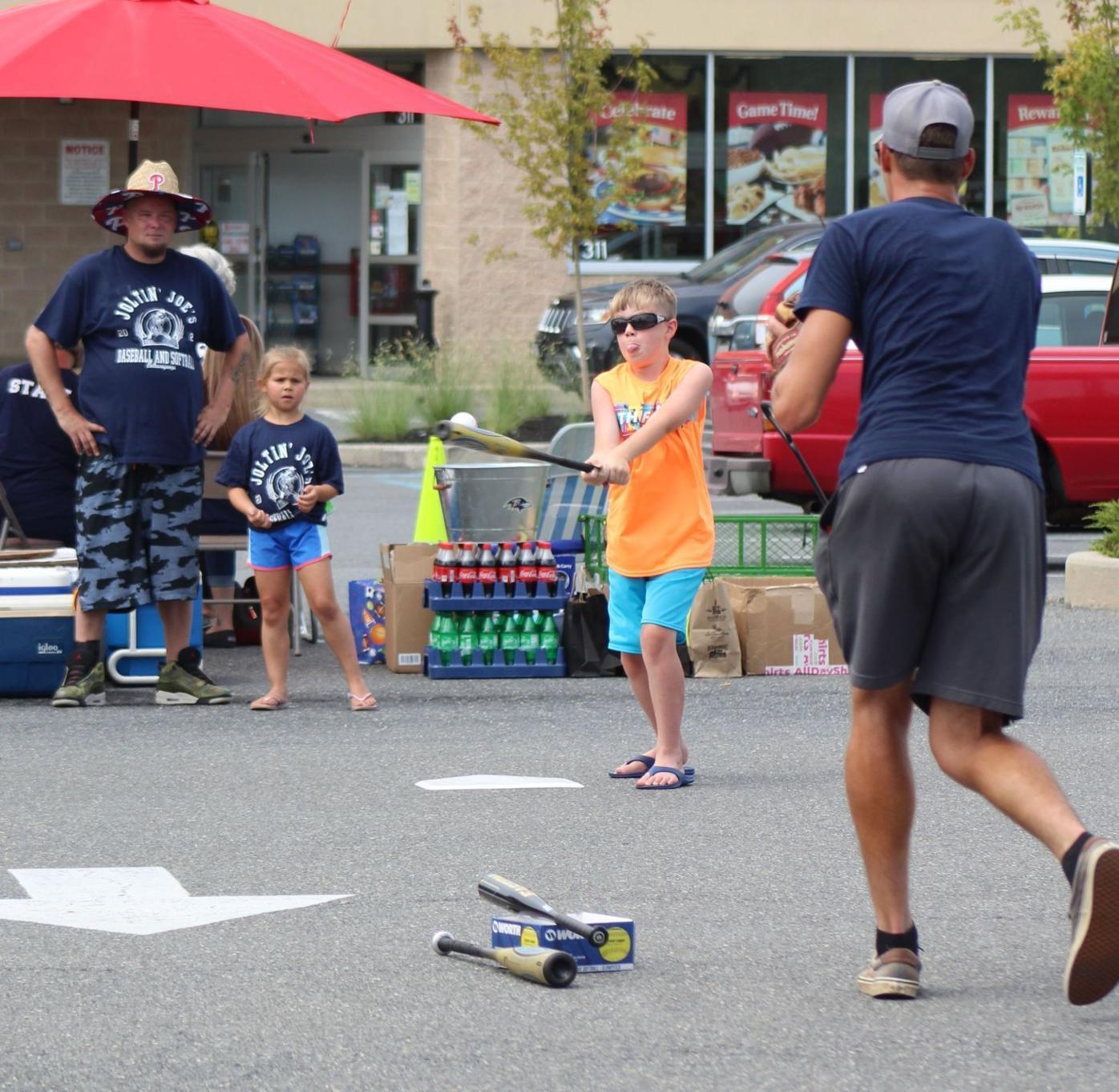 Joltin' Joe offers a baseball clinic for local kids