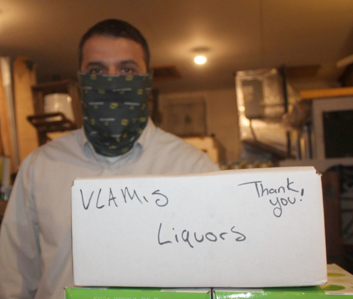 Vlamis Liquors donates hand sanitizer to CC Union Hospital