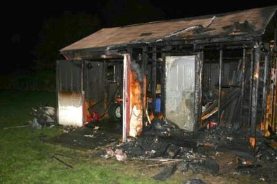 North East-area shed fire