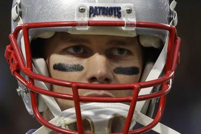 Patriots Brady Football
