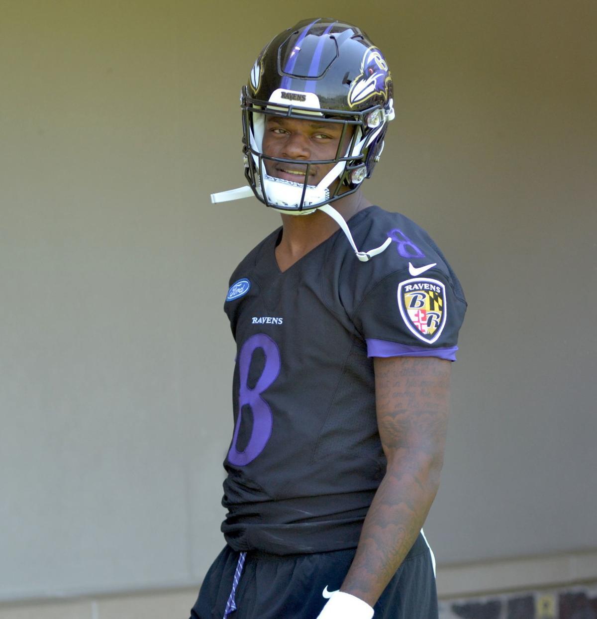online store 68034 bdeb5 Ravens QB Joe Flacco welcomes Lamar Jackson 'with open arms ...