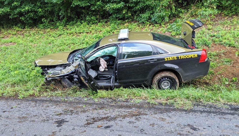 Police chase crash