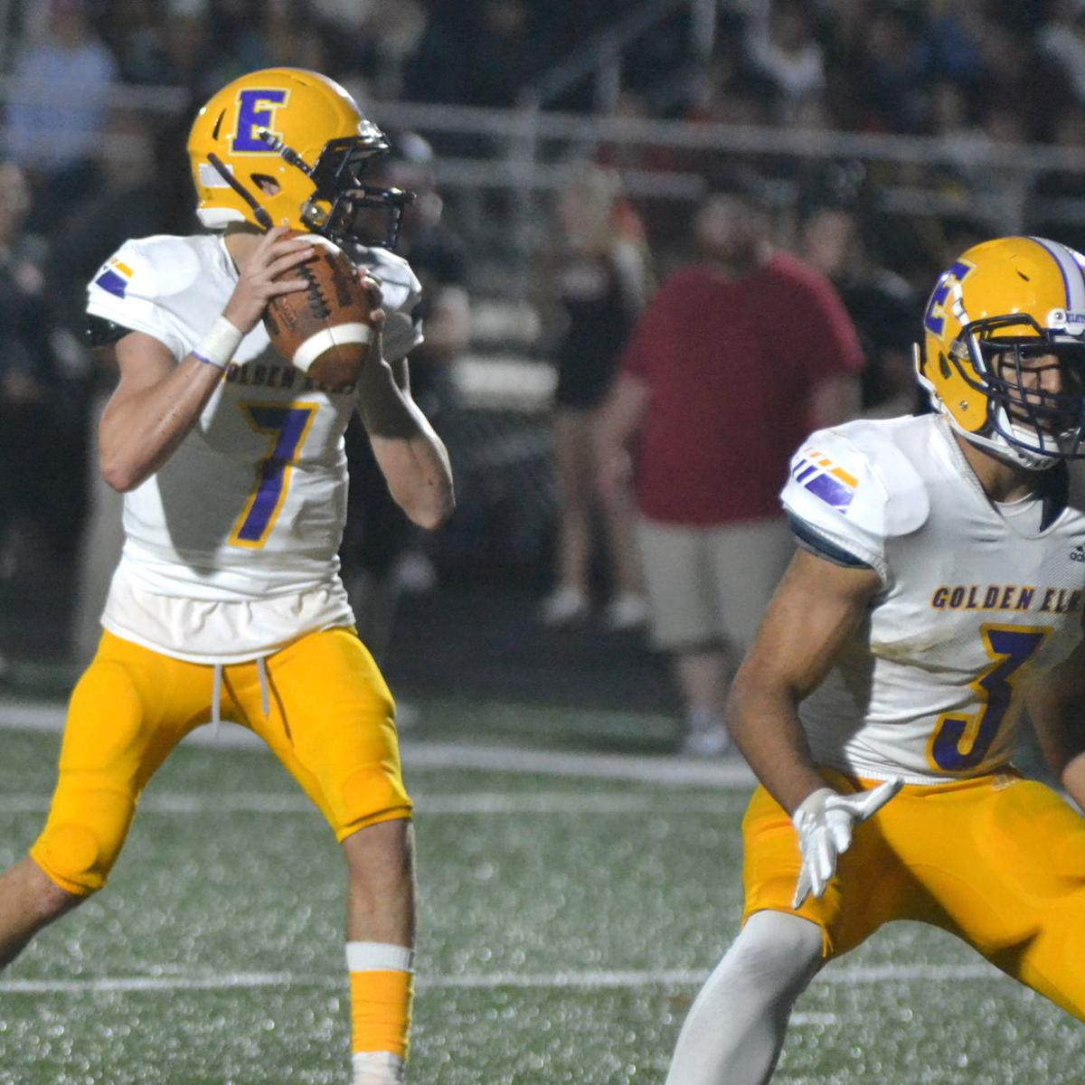 Golden Elks continue to roll with dominant 42-8 win over Rams