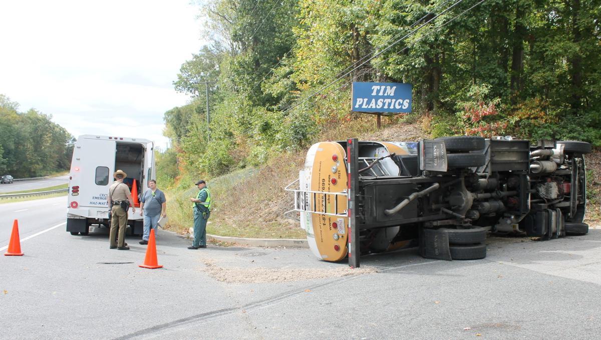 Tanker truck rollover