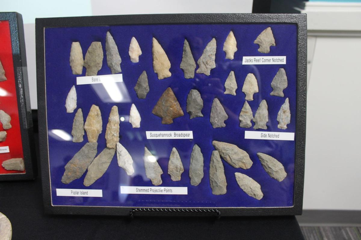 Native American artifacts presentation at Rising Sun library