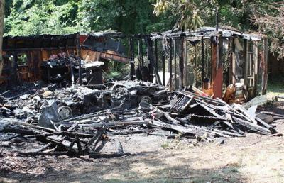 Shucks Road shed fire