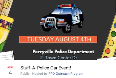 Stuff-A-Police-Car for Perryville Outreach members