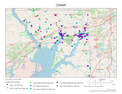 Cecil County drug overdose map
