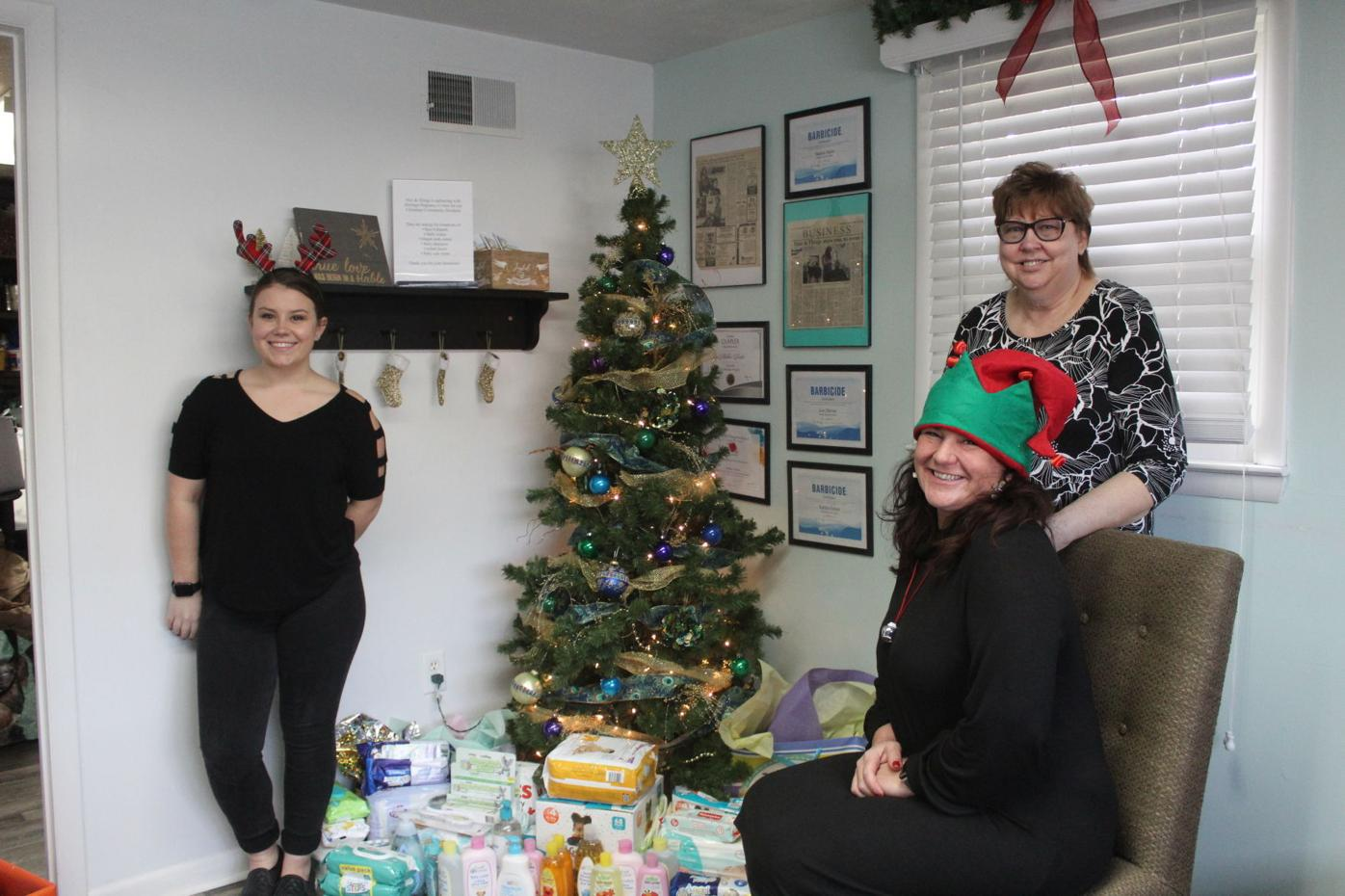 Hair & Things makes Christmas donation to Heritage Pregnancy & Family Health Center