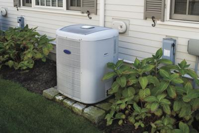 Heating and air conditioning inverter used to climatize a home