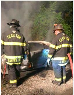 Earleville car fire