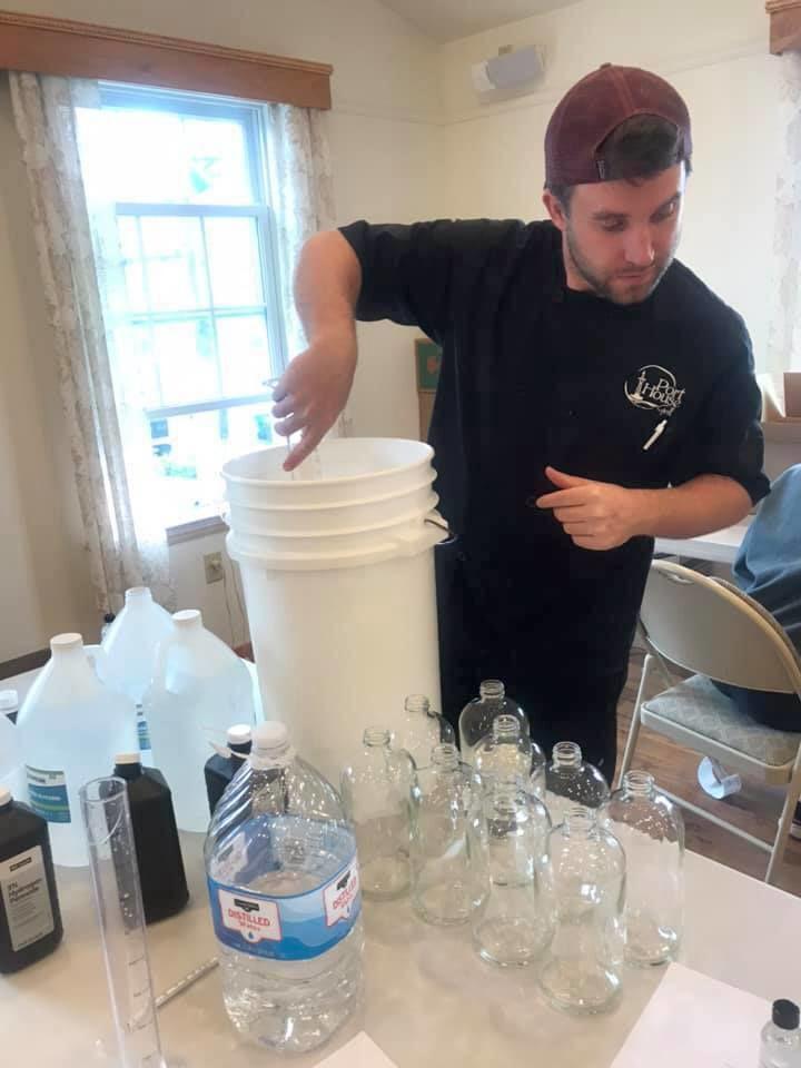 Making hand sanitizer